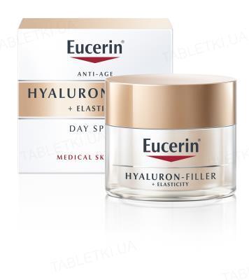 Крем дневной Eucerin 69675 Hyaluron-Filler+Elasticity для биоревитализации и повышение упругости кожи, SPF15, 50мл