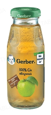 Сок фруктовый Gerber Яблочный, 175 мл