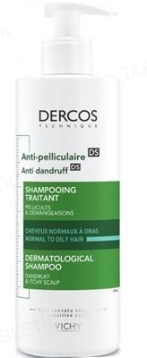 Шампунь Vichy Dercos посиленої дії проти лупи для жирного волосся і подразнення шкіри голови, 390 мл