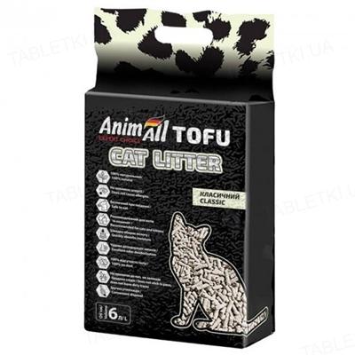 Наполнитель для туалета AnimAll Classic ТОФУ без запаха, 2,6 кг (6 л)