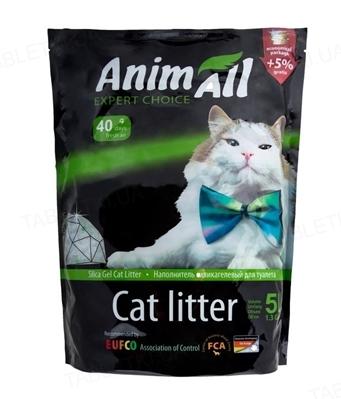 Наполнитель для туалета AnimAll силикагелевый Зеленый изумруд, 5 л