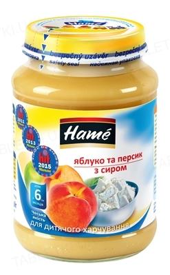 Фруктовое пюре Hame Яблоко, персик и творог, 190 г