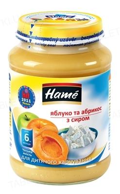 Фруктовое пюре Hame Яблоко и абрикос с творогом, 190 г