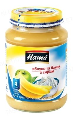 Фруктовое пюре Hame Яблоко и банан с творогом, 190 г