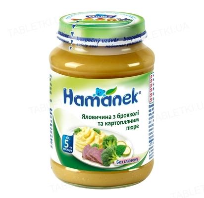 Мясо-овощное пюре Hame Hamanek Говядина с брокколи и картофельным пюре, 190 г