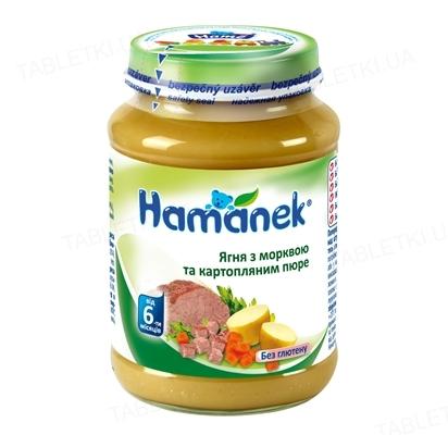 Мясо-овощное пюре Hame Hamanek Ягненок с морковкой и картофельным пюре, 190 г