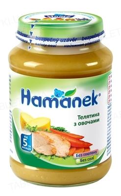 Мясо-овощное пюре Hame Hamanek Телятина с овощами, 190 г