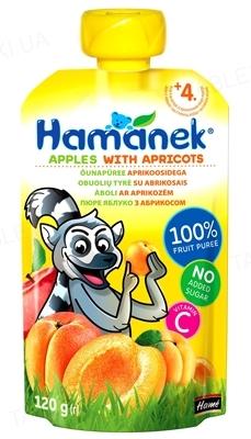 Фруктовое пюре Hame Hamanek Яблоко с абрикосом, 120 г