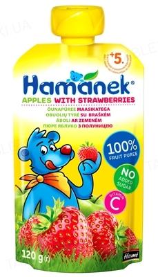 Фруктовое пюре Hame Hamanek Яблоко с клубникой, 120 г