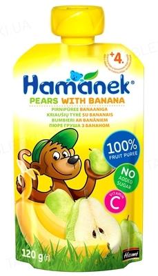 Фруктовое пюре Hame Hamanek Груша и банан, 120 г