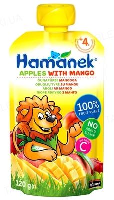 Фруктовое пюре Hame Hamanek Яблоко и манго, 120 г
