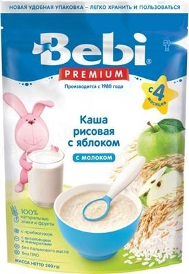 Суха молочна каша Bebi Premium Рисова з яблуком, 250 г