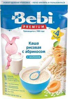 Суха молочна каша Bebi Premium Рисова з курагою, 250 г