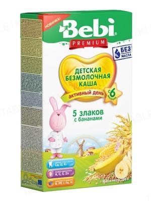Суха безмолочна каша Bebi Premium 5 злаків з бананом, 200 г