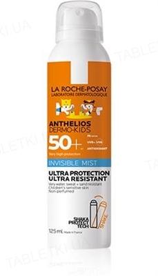 Спрей-міст La Roche-Posay Anthelios Dermo-Kids, сонцезахисний водостійкий, для чутливої шкіри дітей, SPF 50+, 125 мл