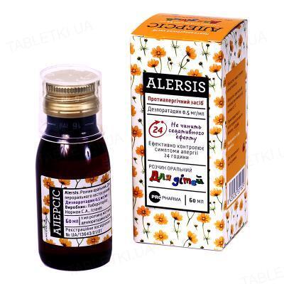 Алерсис раствор ор. 0.5 мг/мл по 60 мл во флак.