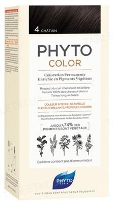Крем-краска Phyto Phytocolor, тон 4 шатен, 60 мл + 40 мл