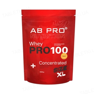 Протеин AB PRO PRO 100 Whey Concentrated ваниль, 2000 г