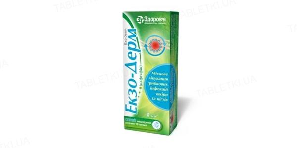 Экзо-дерм спрей н/к, р-р 10 мг/мл по 8 мл во флак.