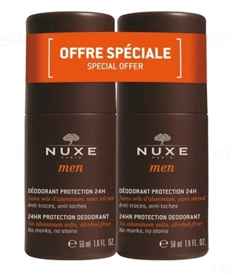 Набор Nuxe Дуо Men дезодорант шариковый, 2 флакона по 50 мл