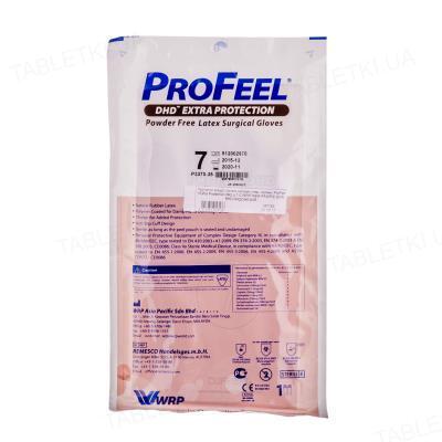Перчатки хирургические ProFeel Extra Protection стерильные латексные неопудренные, с полимерным покрытием, размер 7, пара
