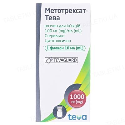 Метотрексат-Тева розчин д/ін. 100 мг/мл по 10 мл №1 у флак.