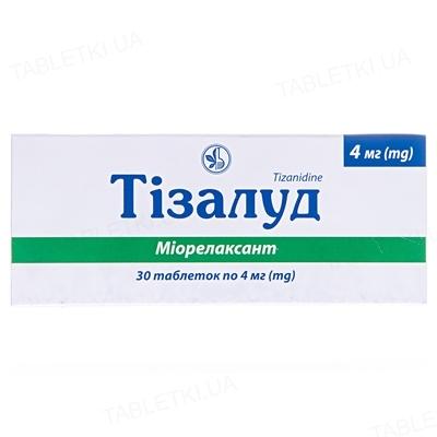 Тізалуд таблетки по 4 мг №30 (10х3)