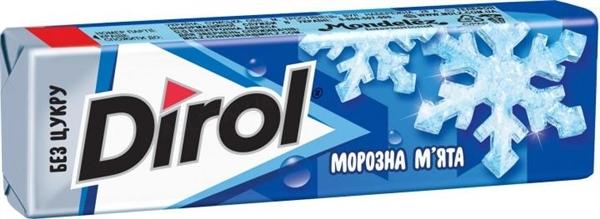 Жевательная резинка Dirol White Морозная мята без сахара, 14 г