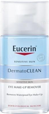 Средство для снятия водостойкого макияжа с глаз Eucerin 83579 DermatoClean для чувствительной кожи, 125 мл