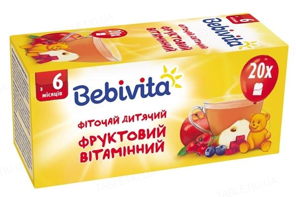 Фиточай детский Bebivita фруктовый витаминный, 20 фильтр-пакетов по 1,5 г