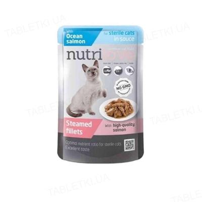 Корм влажный для стерилизованных кошек Nutrilove Sterile с лососем в соусе, 85 г