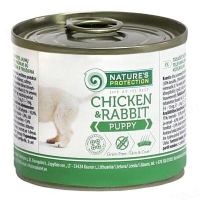 Корм влажный для щенков Nature's Protection Puppy chicken & rabbit с курицей и кроликом 200 г
