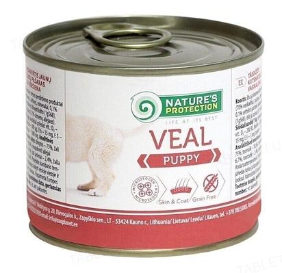 Корм влажный для щенков Nature's Protection Puppy Veal с телятиной, 200 г