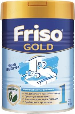 Сухая адаптированная молочная смесь Friso Gold 1 LockNutri для детского питания с рождения до 6 месяцев, 400 г