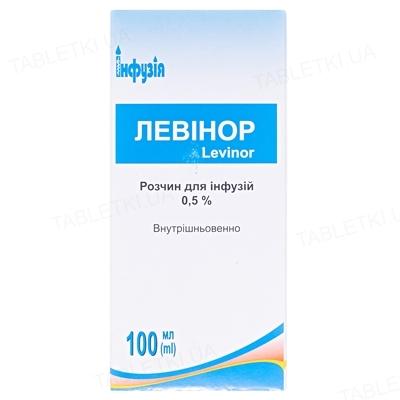 Левинор раствор д/инф. 0.5 % по 100 мл в бутыл.
