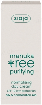 Крем дневной Ziaja Листья мануки для лица, SPF 10, 50 мл