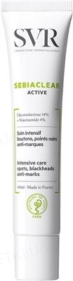 Крем SVR Sebiaclear для лица, активный, для жирной и склонной к акне кожи, 40 мл