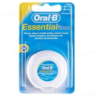 Зубная нить Oral-B Essential floss, Мятная, 50 м