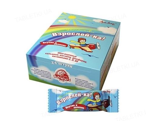 Батончики для детей Артлайф Взрослейка с кальцием и фосфором для волос, ногтей, костей, зубов, 24 шт