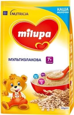 Сухая молочная каша Milupa быстрорастворимая мультизлаковая для детей с 7 месяцев, 210 г