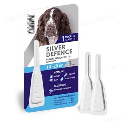 Капли на холку Palladium Silver Defence от паразитов для собак весом от 10 до 20 кг, 1 пипетка