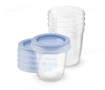 Контейнери для зберігання грудного молока Philips Avent 5 шт x 180 мл, 5 кришок