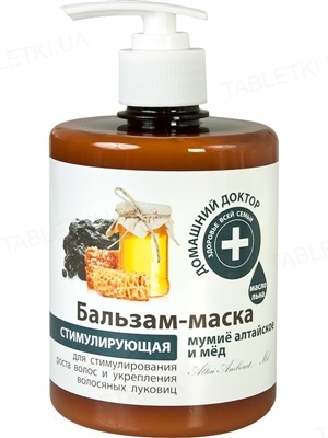 Бальзам-маска для волосся Домашній Доктор Мумійо алтайське і мед, 500 мл