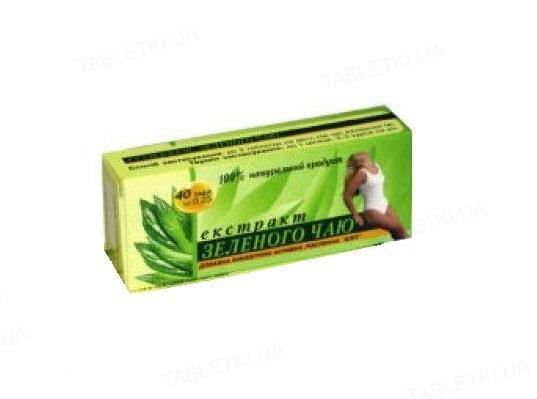 Зеленый Чай экстракт таблетки №40 (10х4)