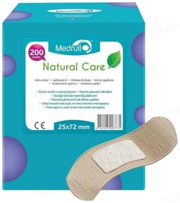 Пластырь бактерицидный Medrull Natural Care на тканевой основе, размером 2,5 см х 7,2 см, 200 штук