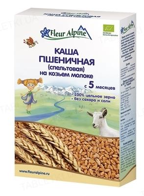 Сухая молочная каша Fleur Alpine Пшеничная (спельтовая) на козьем молоке, 200 г