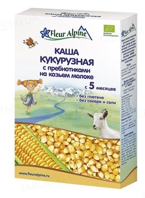 Сухая молочная каша Fleur Alpine Кукурузная с пребиотиками на козьем молоке, 200 г