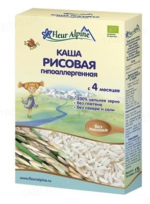 Сухая безмолочная каша Fleur Alpine Рисовая гипоаллергенная, 175 г