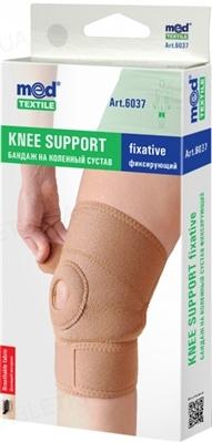 Бандаж на коленный сустав Медтекстиль 6037 фиксирующий, размер S/М люкс