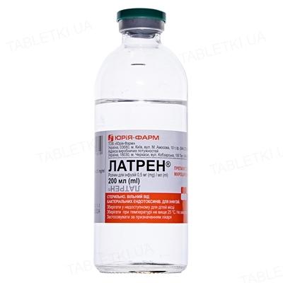 Латрен раствор д/инф. 0.5 мг/мл по 200 мл в бутыл.